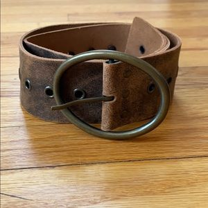 Express Distressed Brown Belt